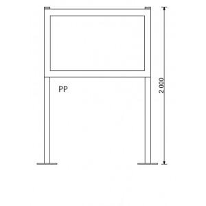 montážní nohy pro venkovní vitríny SCT/SCL