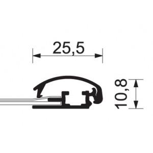 Lehký interiérový zákaznický poutač A s profilem 25 mm