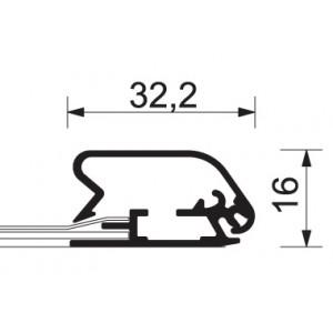 Zákaznický poutač s profilem 32 mm