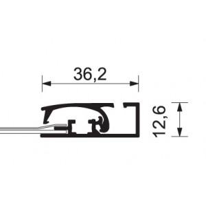 klaprám s profilem 37 mm - Compasso
