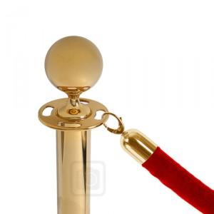 bariérový sloupek s provazem
