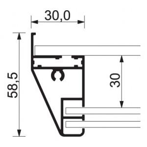 Interiérová vitrína SCSL s posuvným sklem